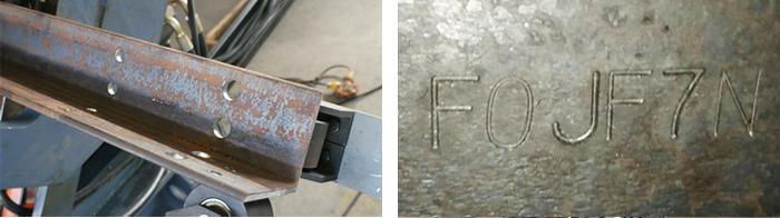 数控角钢冲孔生产线工件图片