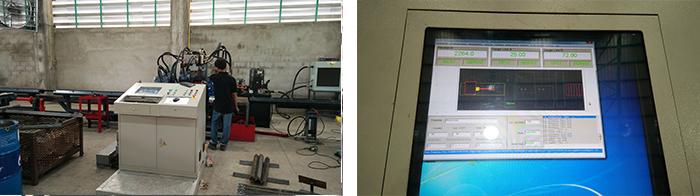 数控角钢冲孔生产线系统图