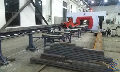 h型钢数控三维钻床在车库制造业中的应用