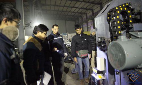高速数控三维钻厂家时代百超喜迎泰国验收
