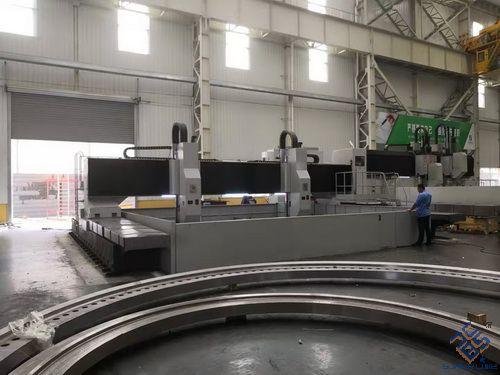 大型龙门式数控平面钻验收交付