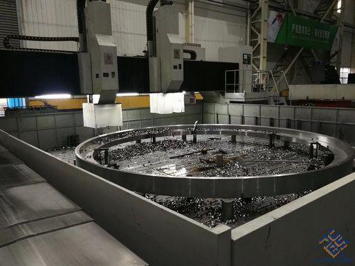 8米风电法兰数控钻床发往青岛